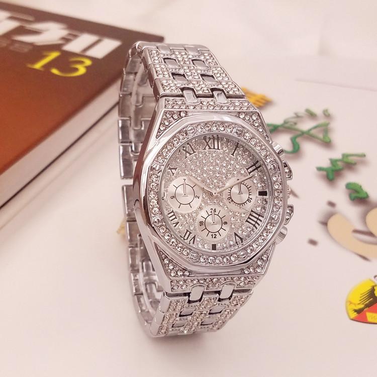 Luxury Iced Out Watch Gold Diamond Watch Top Brand For Men Square Quartz Waterproof Wristwatch Relogio Masculino Men Watches
