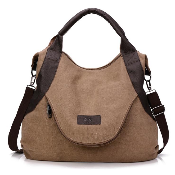 Handheld Minimalist Retro Shoulder Crossbody Vintage Canvas Bag