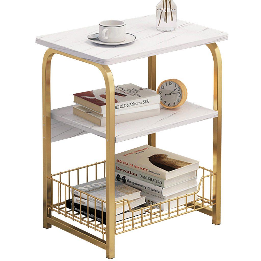 Small Coffee Table Sofa Bedside Nightstand Sundries Storage Basket Bookshelf Mini Laptop Desk Home Office Furniture