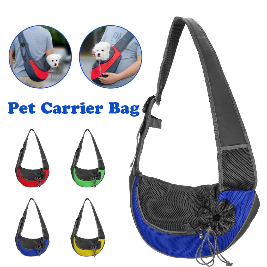 Outdoor Breathable Pet Puppy Dog Carry Shoulder Carrier Bag with Mobile Phone Storage Pack