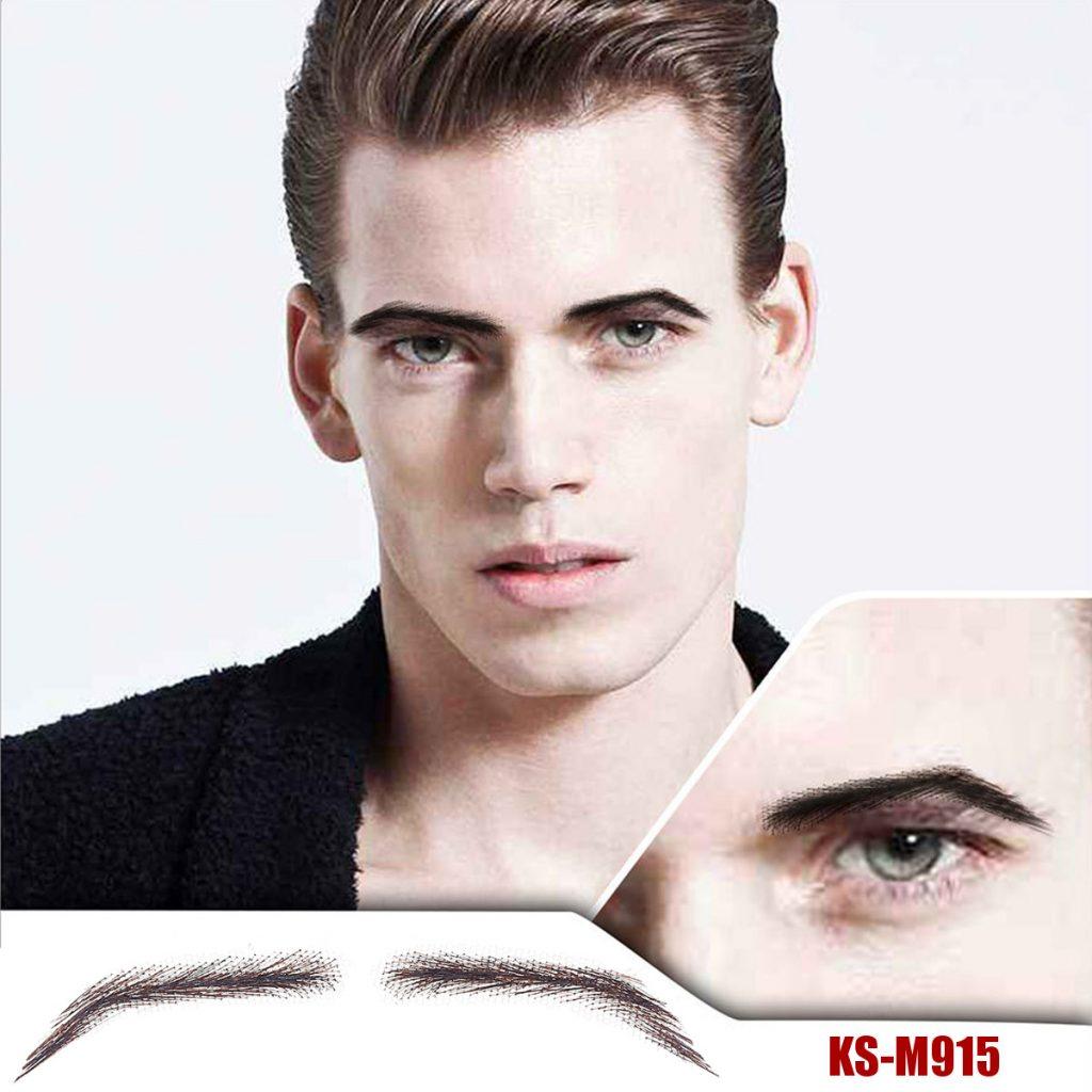 Men's Artificial Eyebrow Stickers Handmade Crochet Eyebrows Natural Three-dimensional Eyebrows