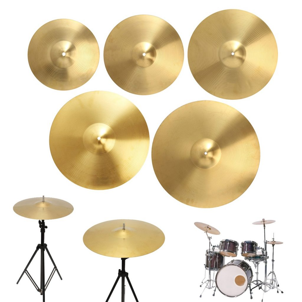 12/14/16/18/20 Inch Brass Alloy Drum Cymbal for Percussion Instruments Players Beginners