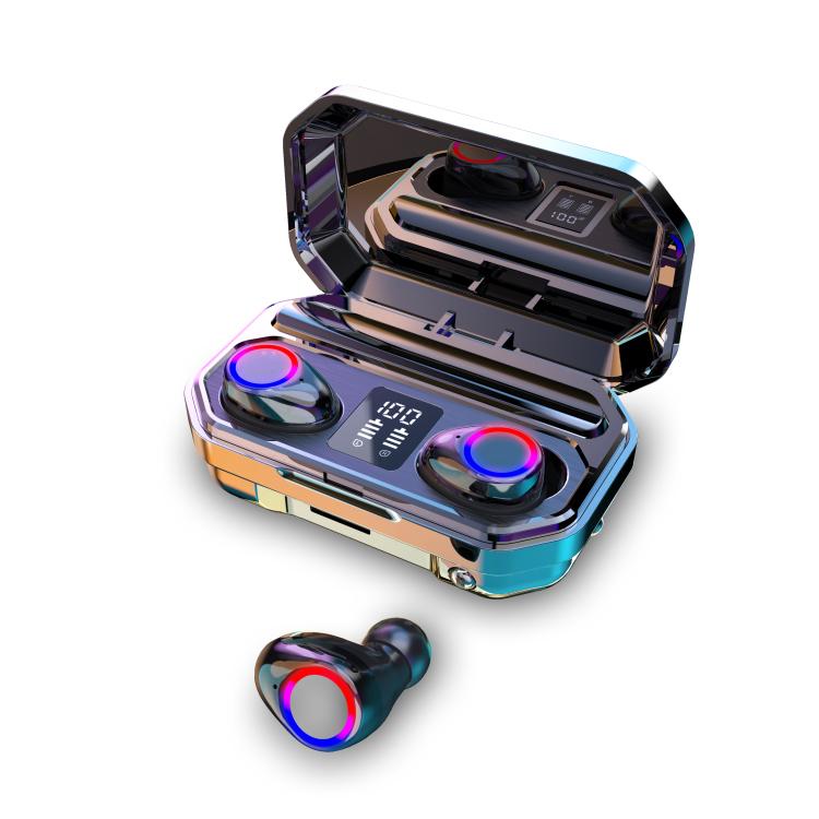 M12 TWS bluetooth Earphone Wireless Earbuds LED Display 1200mAh Power Bank Stereo Music Headphone Headset with Mic